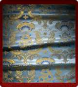 Metallic Brocade Fabric - 585-LB-DB-GM