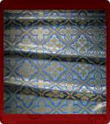 Metallic Brocade Fabric - 590-LB-DB-GM