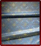 Metallic Brocade Fabric - 595-LB-DB-GM