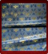 Metallic Brocade Fabric - 605-LB-DB-GM