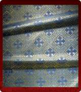 Metallic Brocade Fabric - 610-LB-DB-GM