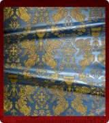 Metallic Brocade Fabric - 615-LB-DB-GM