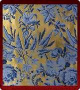 Metallic Brocade Fabric - 625-GM-DB-BV