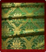 Metallic Brocade Fabric - 330-GR-GR-GM