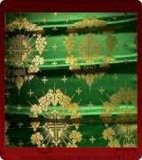 Metallic Brocade Fabric - 335-GR-GR-GM