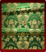 Metallic Brocade Fabric - 350-GR-GR-GM