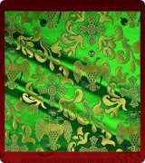 Metallic Brocade Fabric - 360-GR-GR-GM