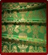 Metallic Brocade Fabric - 365-GR-GR-GM