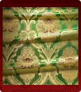 Metallic Brocade Fabric - 370-GR-RD-GM