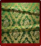 Metallic Brocade Fabric - 375-GR-GR-GM