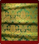 Metallic Brocade Fabric - 385-GR-GR-GM