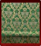 Metallic Brocade Fabric - 425-GR-GR-GM