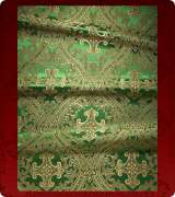 Metallic Brocade Fabric - 455-GR-GR-GM