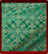 Metallic Brocade Fabric - 480-GR-GR-GM