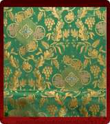 Metallic Brocade Fabric - 495-GR-GR-GM
