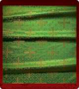 Metallic Brocade Fabric - 510-GR-GR-GM