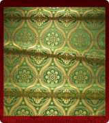 Metallic Brocade Fabric - 535-GR-GR-GM
