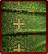 Metallic Brocade Fabric - 540-GR-GR-GM