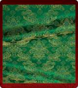 Metallic Brocade Fabric - 545-GR-GR-GM
