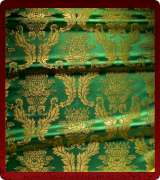 Metallic Brocade Fabric - 550-GR-GR-GM