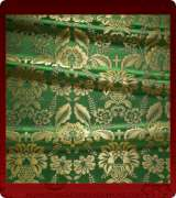 Metallic Brocade Fabric - 555-GR-GR-GM