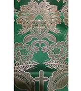 Metallic Brocade Fabric - 555-GR-WS-GM