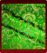 Metallic Brocade Fabric - 585-GR-GR-GM