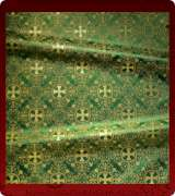 Metallic Brocade Fabric - 595-GR-GR-GM