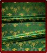 Metallic Brocade Fabric - 605-GR-GR-GM