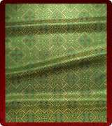 Metallic Brocade Fabric - 610-GR-GR-GM