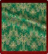 Metallic Brocade Fabric - 620-GR-DB-GM