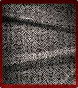 Metallic Brocade Fabric - 610-BK-GY-SM