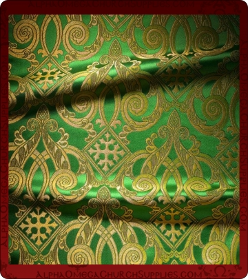 Metallic Brocade Fabric - 460-GR-GR-GM