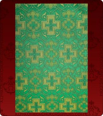 Metallic Brocade Fabric - 565-GR-GR-GM