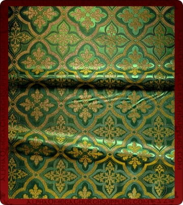 Metallic Brocade Fabric - 590-GR-GR-GM